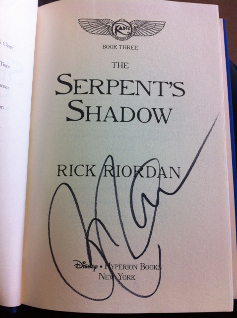 The Serpent's Shadow - Signed