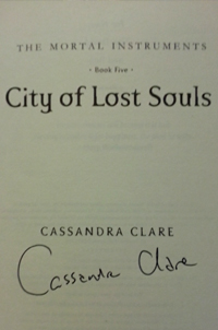 City of Lost Souls by Cassandra Clare - Signed