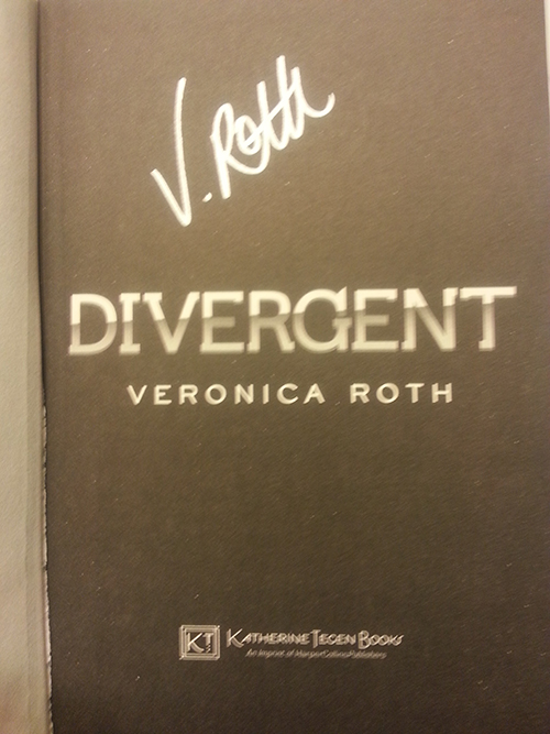 Dark Days Tour - Signed copy of Divergent by Veronica Roth