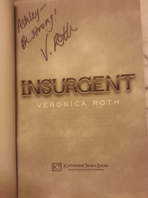Dark Days Tour - Signed copy of Insurgent by Veronica Roth
