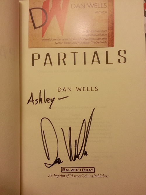 Dark Days Tour - Signed copy of Partials by Dan Wells