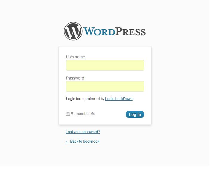 Custom WordPress Login Page - Before