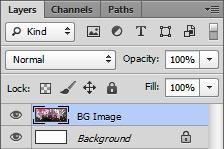 Photoshop Layers Panel - Background Image