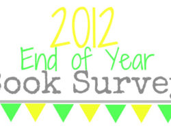 End Of Year Book Survey – 2012