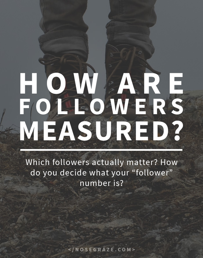 "How are followers measured? Which followers actually matter? How do you decide what your ""follower"" number is?"