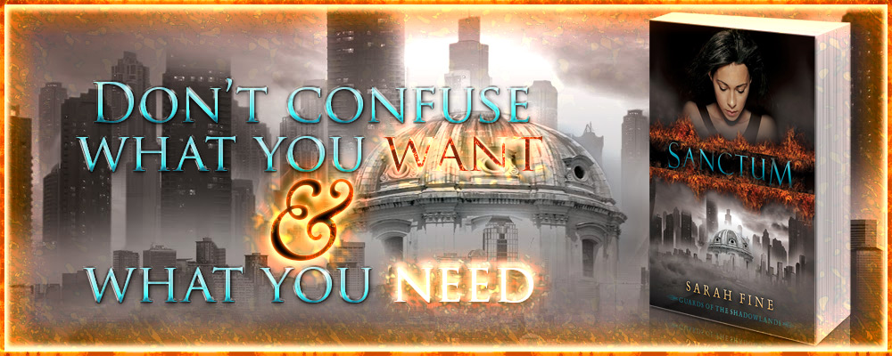 Sanctum by Sarah Fine - Don't confuse what you want with what you need