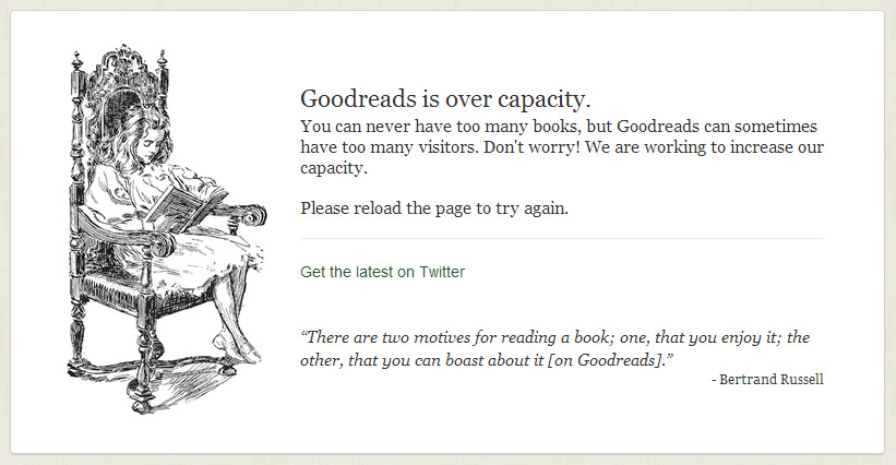 Goodreads is Over Capacity