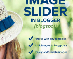 How to add an Image Slider to Your Blogger Blog