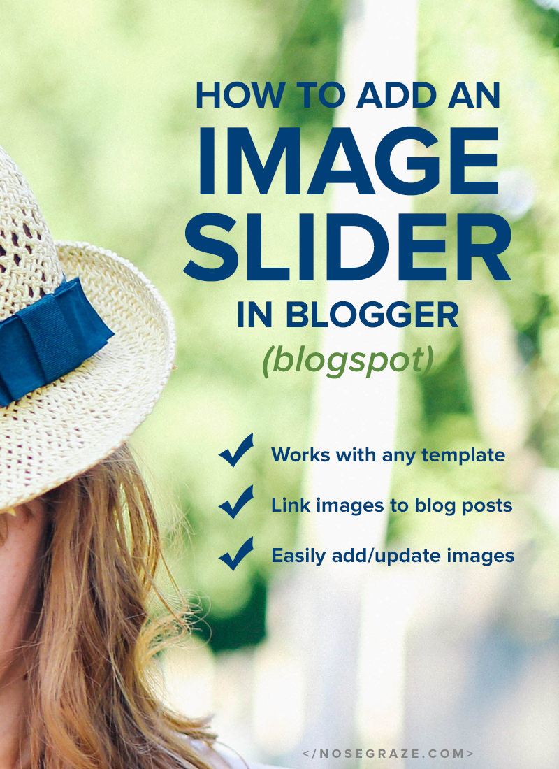 How to add an image slider in Blogger