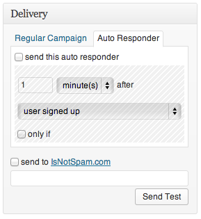 MyMail Auto Responder Campaign
