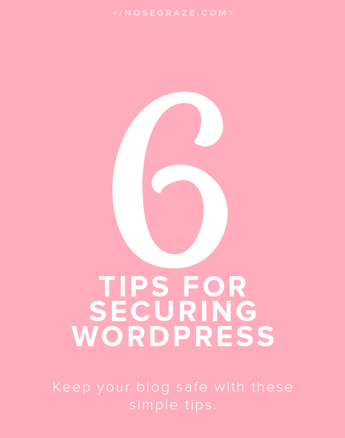 6 tips for securing WordPress. Keep your blog safe from hackers!