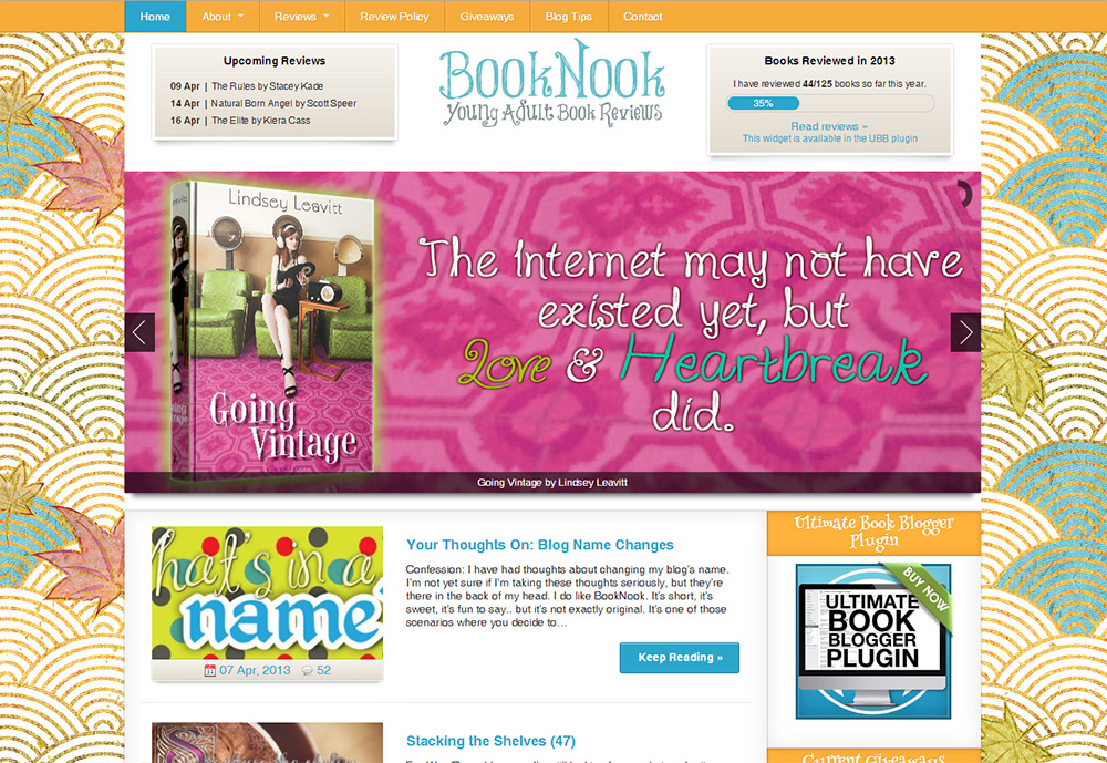 BookNook Swirls & Leaves Theme