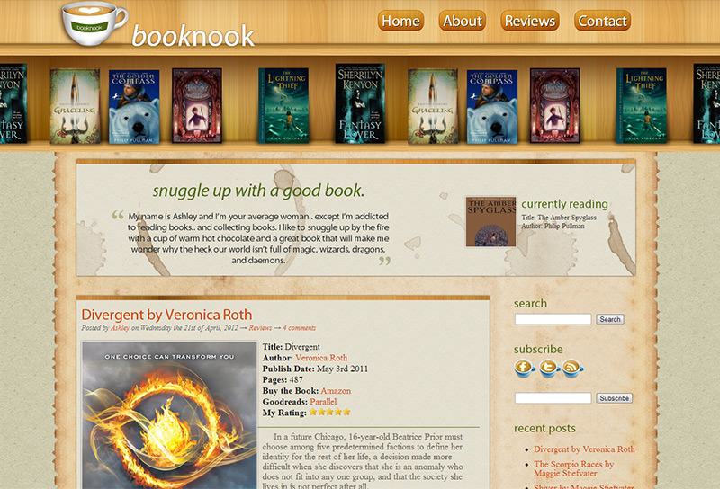 BookNook Bookshelf Theme