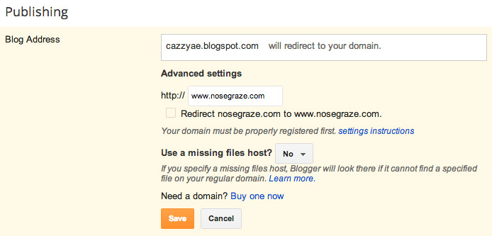 Redirect Blogger to WordPress