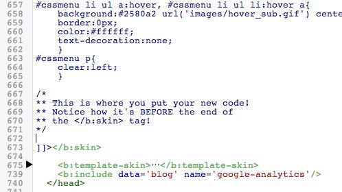 Put Blogger CSS Here