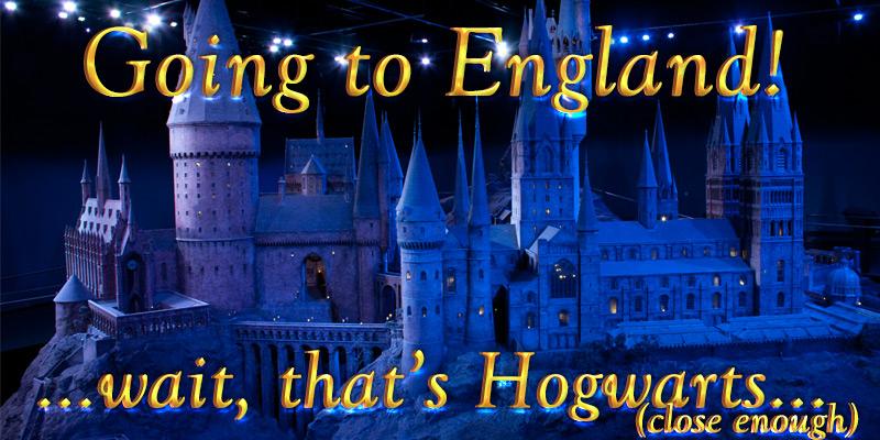 I'm On My Way to England! ..or Hogwarts
