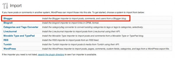 Import Blogger Posts to WordPress