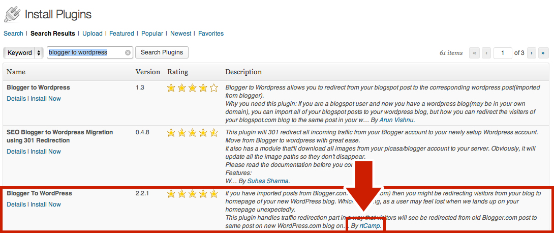Blogger to WordPress Plugin