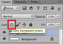 Photoshop - Lock Transparent Pixels