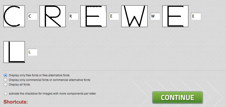 What Font Is: Crewel