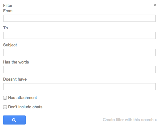 Gmail Filter Parameters