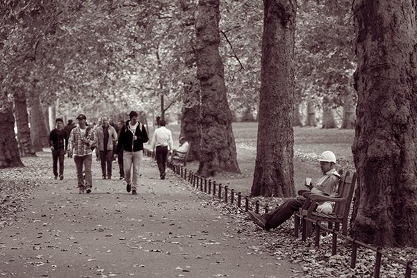 People walking through St James's Park