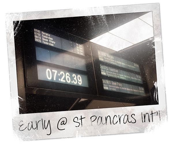 7:26am at St Pancras International Station
