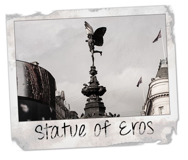 Statue of Eros at Picadilly Circus