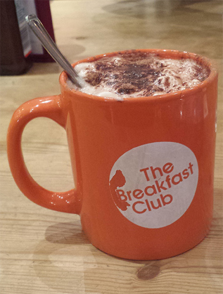 Hot Chocolate at The Breakfast Club