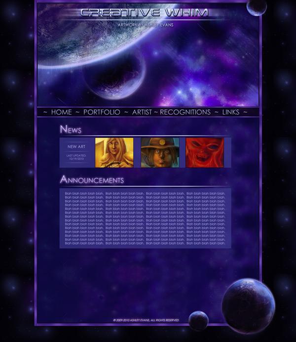 AEvans Arts Site Design #3