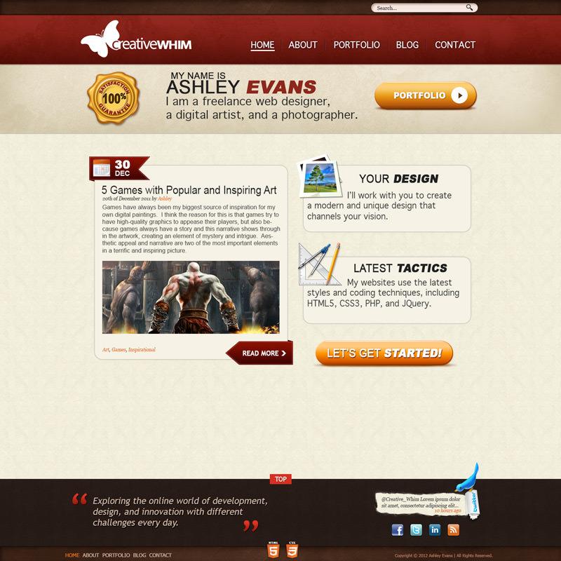 Creative Whim Site Design