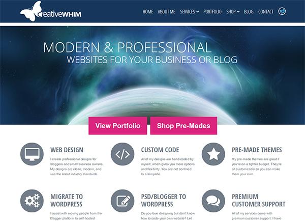 Creative Whim - Flat Web Design