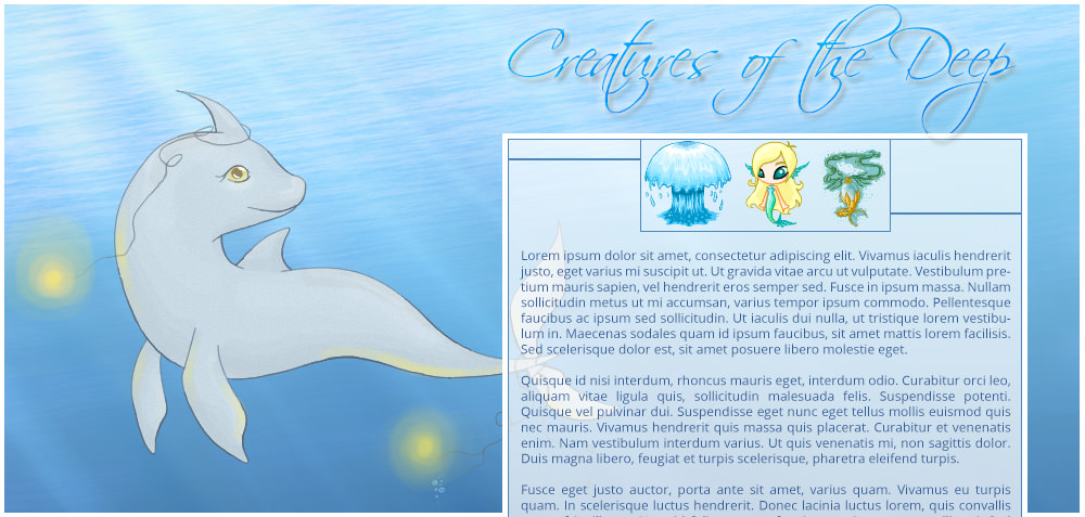 Neopets Design - Creatures of the Deep