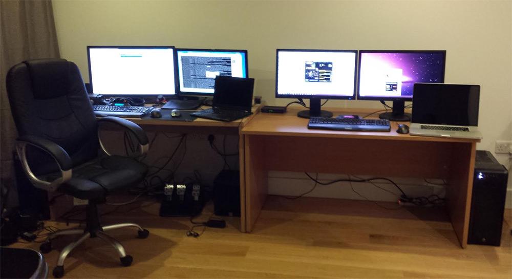 Four Monitor Computer Setup