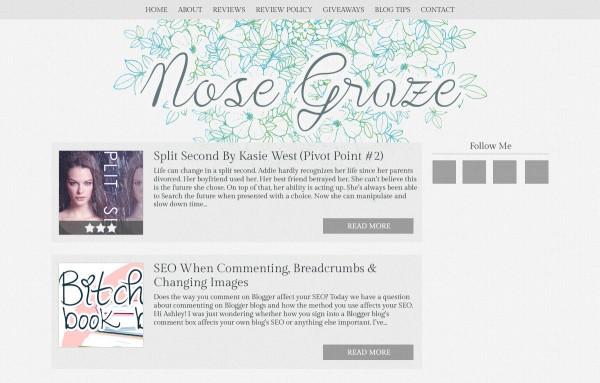 Nose Graze flower doodles blog design