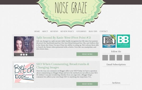 Nose Graze green blog design