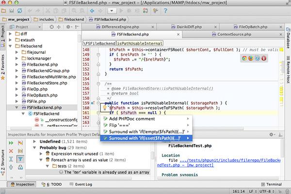 PhpStorm Text Editor