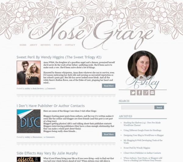 Nose Graze - Brown flowers design