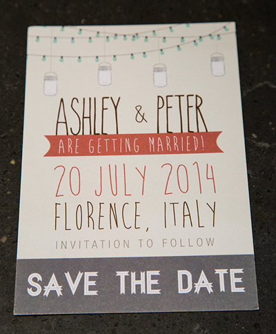 Save the Date - Italian Wedding invite