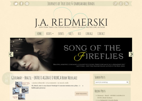 J.A. Redmerski's Blog Design