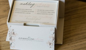 Business cards for Ashley Gibson