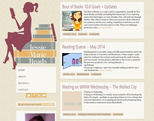 Jessie Marie Reads blog design