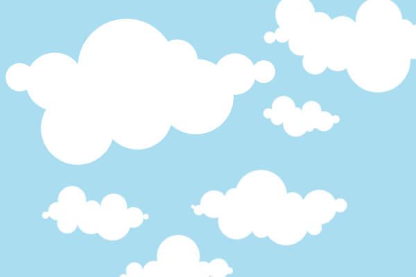 Cartoon cloud brushes