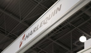 Harlequin Booth Sign at BEA
