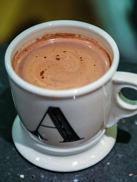 Hot chocolate in an A cup