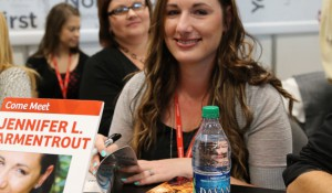 Jennifer L. Armentrout at the Harlequin Teen Signing