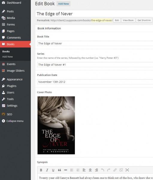 Novelist book info settings