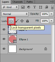 Lock transparent pixels