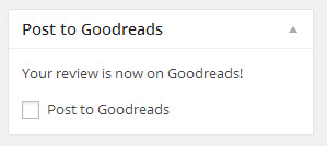 Post review from WordPress to Goodreads