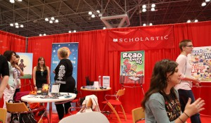 People at the BEA Scholastic breakfast